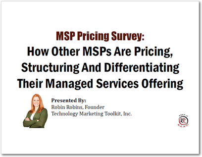 MSP Pricing Survey